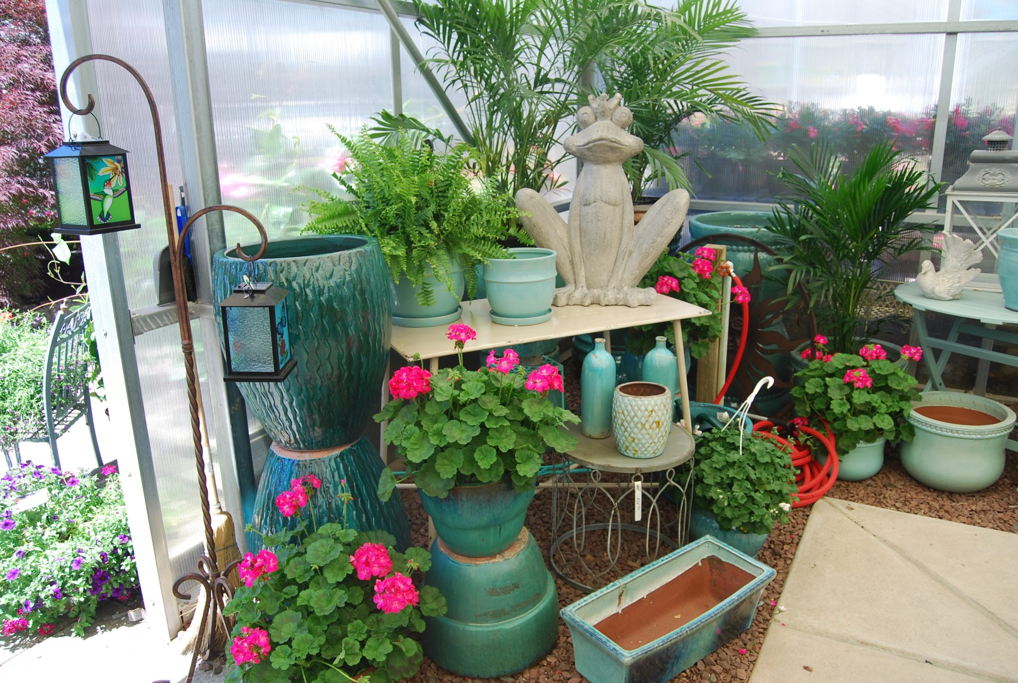 Country Greenery Pottery Potpourri