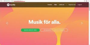 Spotify hemsida domänstrategi bild